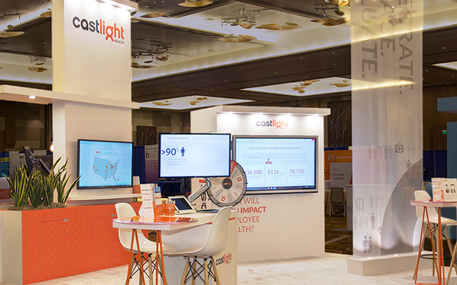 Castlight booth design by Lightspeed Marketing Communications