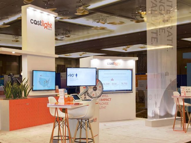 Castlight Booth Design by Lightspeed Marketing