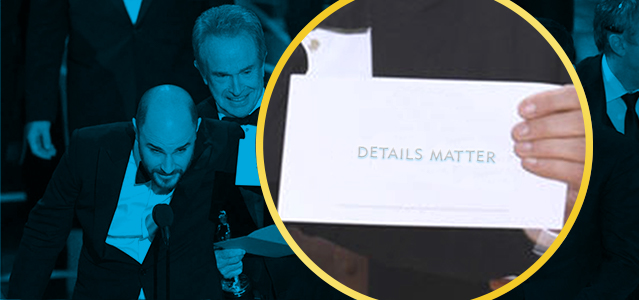 Details Matter Oscar Envelope - Lightspeed Marketing Communications