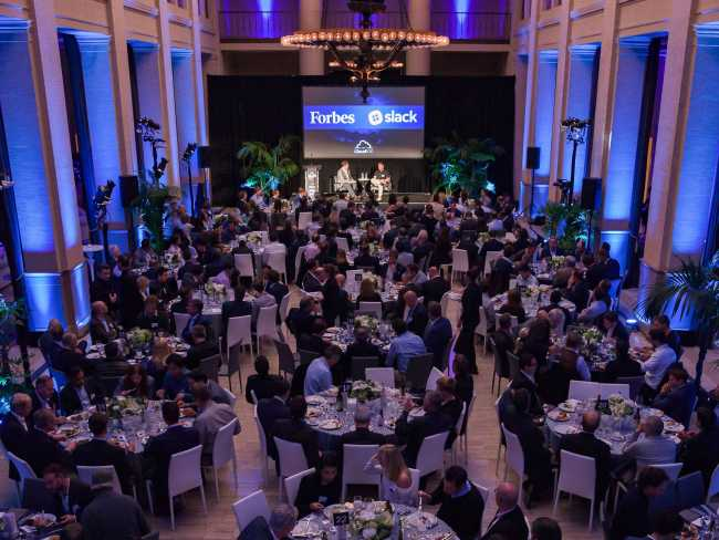 Evening Ballroom at the Cloud 100 Awards Dinner - Lightspeed Marketing Communications