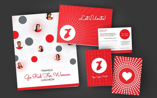 American Heart Association Go Red for Women Luncheon Branding